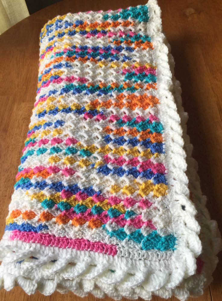 A personal favourite from my Etsy shop https://www.etsy.com/ca/listing/514995385/crochet-baby-blanket