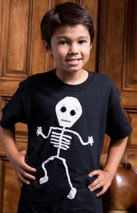 Dancin' Skeleton Appliqué Free Crochet Pattern from Aunt Lydia's Crochet Thread