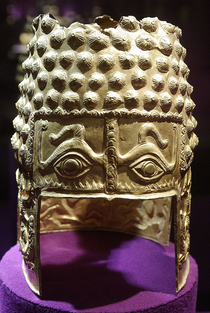 The Golden Helmet of Coţofeneşti; a pure gold Geto-Dacian helmet dating from the first half of the 4th century BC, currently at the National Museum of Romanian History