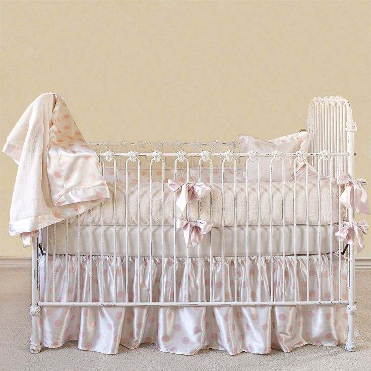 Little Giraffe Crib Set Luxe Cream Dot Pink Layla Grayce