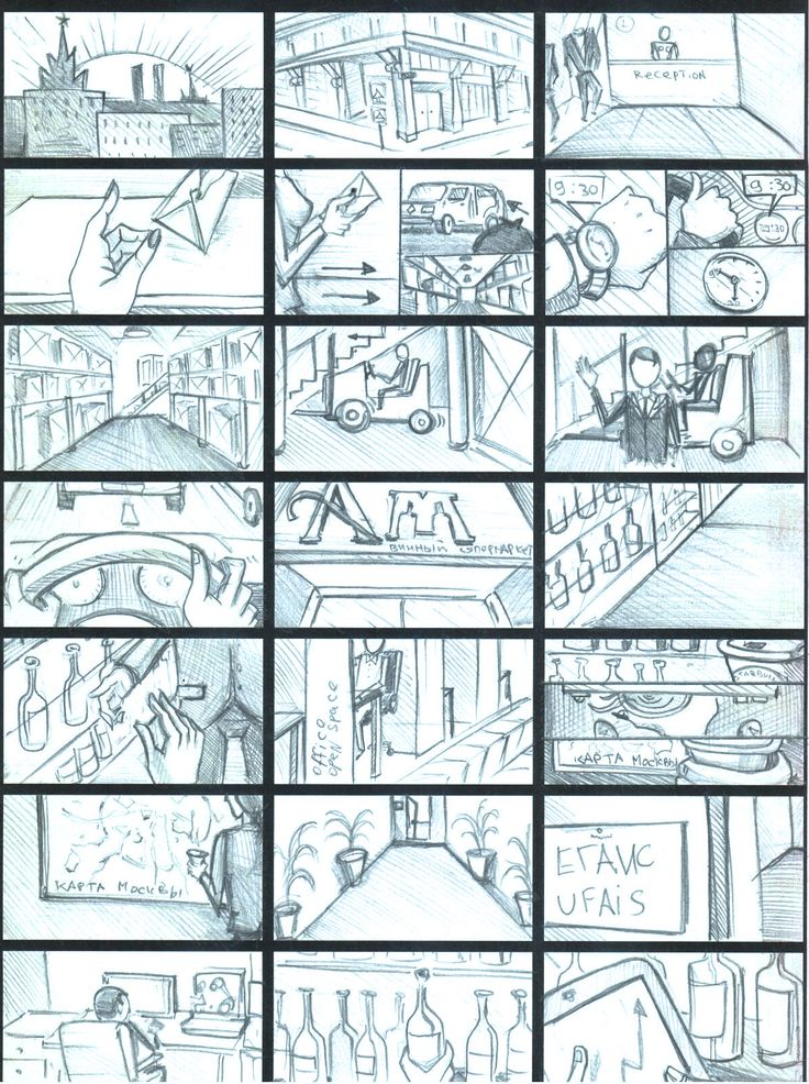 "Storyboard | Working day ""Pernod Ricard"" #1"