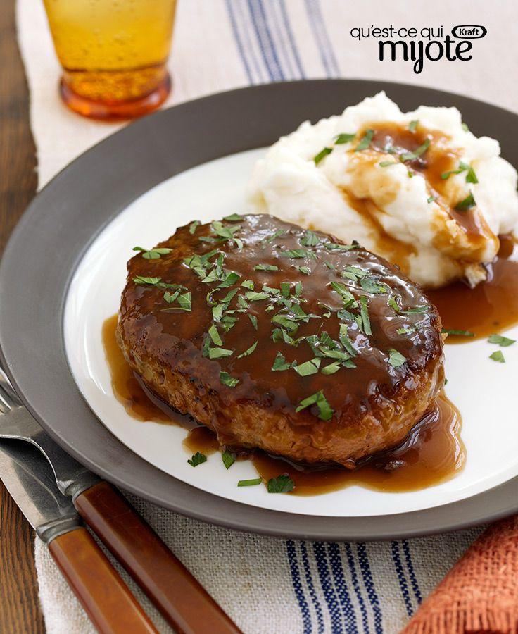 Bifteck Salisbury avec sauce aux champignons #recette