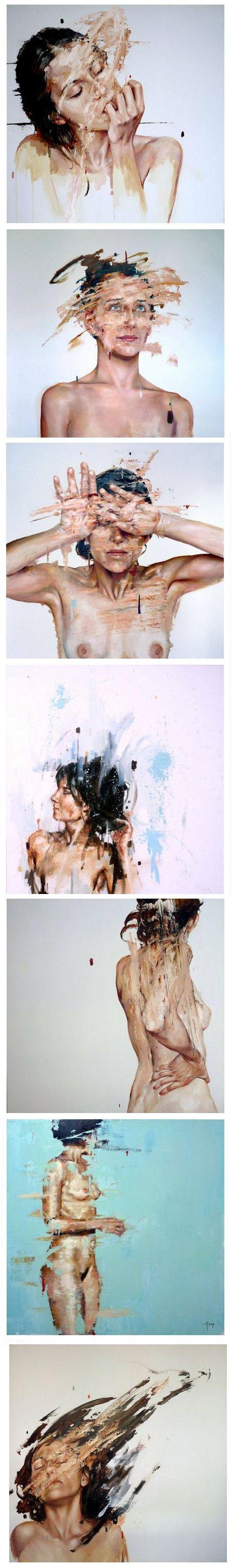 Destroyed Paintings by Cesar Biojo