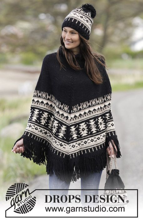 9 best X poncho Fair Isle dames images on Pinterest | Patterns ...