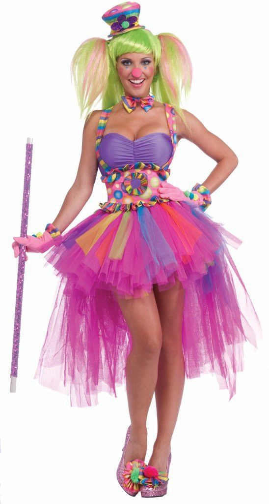 Tutu Lulu The Clown Adult CostumeThis costume includes a dress with attached suspender belt and a bowtie. Does not include wig, hat, cane or shoes.Size: One-Size (Standard)Color: Multi-coloredGender: