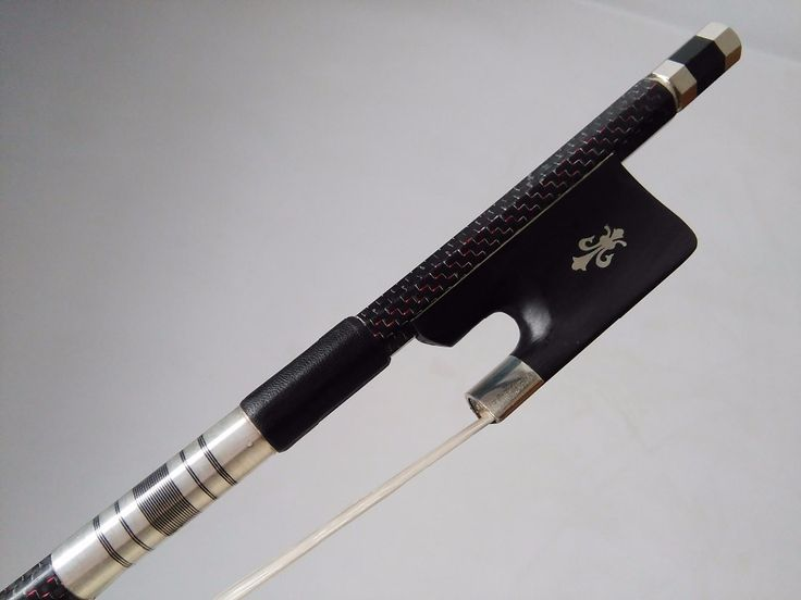 89.99$  Buy here - http://alik1r.worldwells.pw/go.php?t=32715740904 - 1 PC High quality French style Double bass bow 3/4 Red Wire pro inlay white bow hair ebony frog