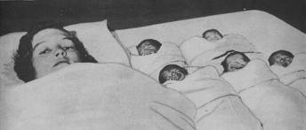 the Dionne quintuplets were born May 28, 1934 just outside Callander, Ontario near the village of Corbeil.  The girls were two months premature. Born to mother Elzire and Oliva.  They were  in birth order named Yvonne, Annette, Cecile, Emilie and Marie.  Cecile and Annette are still alive as of 2013.