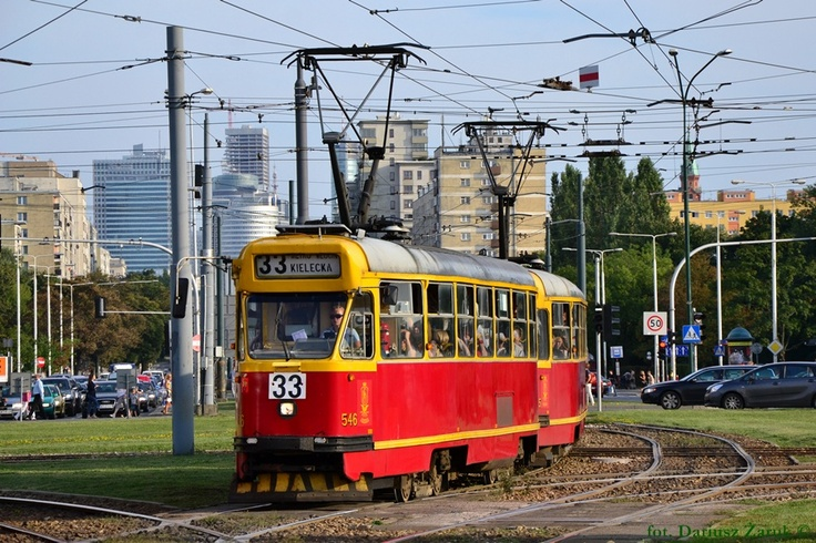 Warszawa, tramwaj Konstal 13N #546+545 - #Warszawa, #tramwaj, #tram