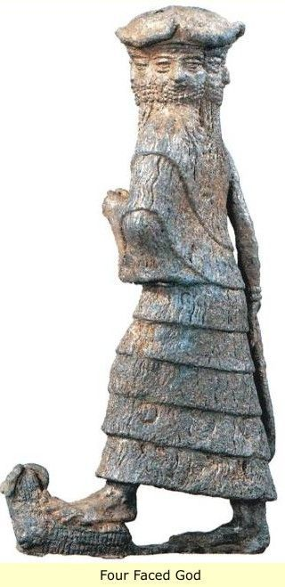 Four faced god ,Sumerian