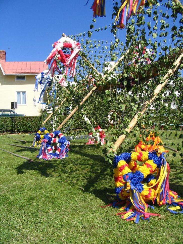 Midsummer festivities in Åland, Finland 2004.