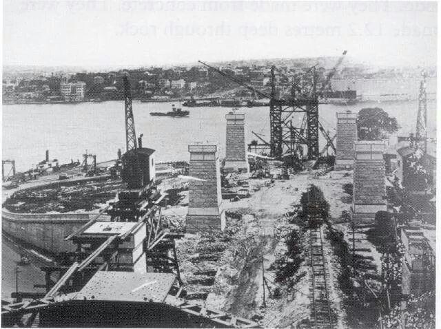 Construction of Sydney Harbour Bridge.A♥W