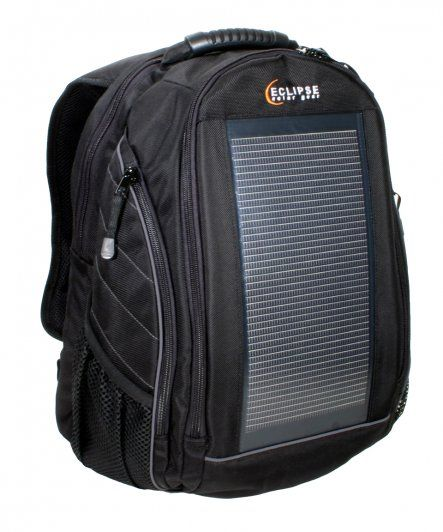 Solar Power backpack to keep your phone and gadgets charged on the go. Available on Ethical Ocean. #solar