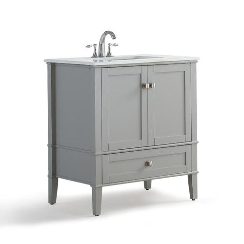 "Found it at AllModern - Chelsea 31"" Single Bathroom Vanity with Quartz Marble Top"