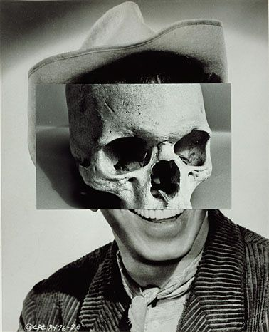 John Stezaker - collage of human face with skeleton. This portrays the opposite idea of my exam theme which is 'growth and evolution'.