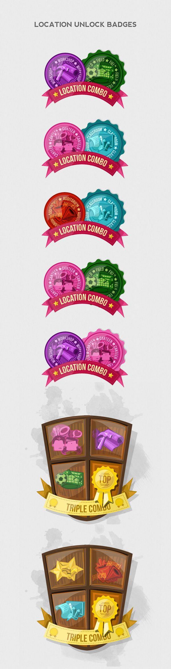 Achievement Badges & Flags 2D Illustrations on Behance