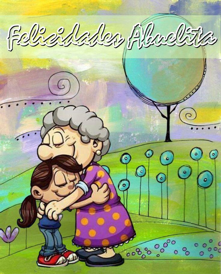 Felicidades abuelita, abrazando a la nieta, 10 de mayo día de las madres Mensajes Pinterest