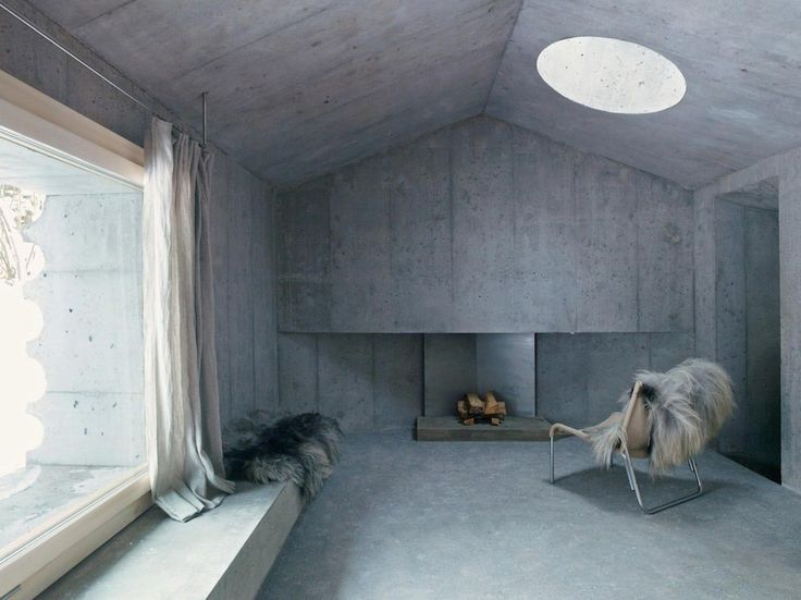 An unusual holiday cabin made of concrete in Switzerland - CAANdesign | Architecture and home design blog