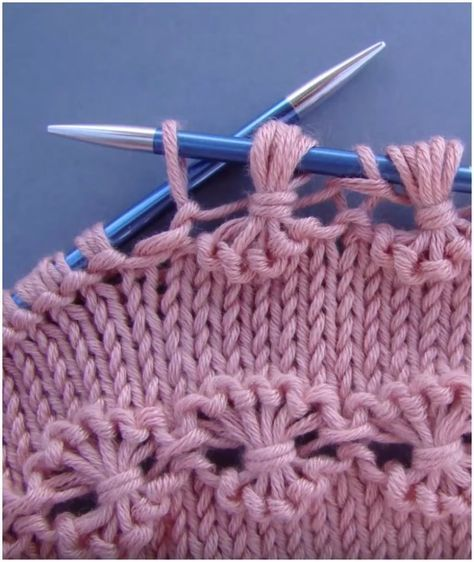 Point of Flowers Knitting Gratisanleitung und Tutorial