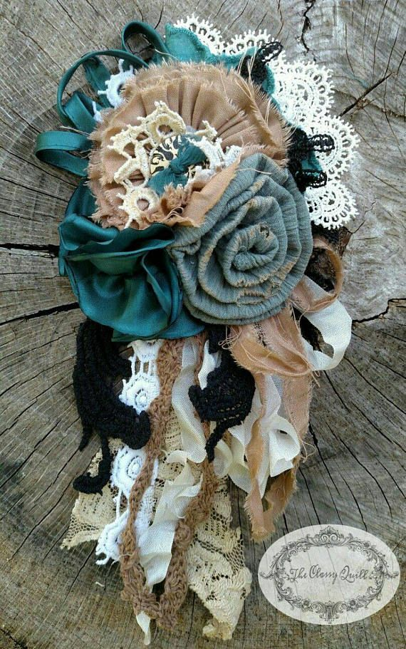 Upcycled flower corsage