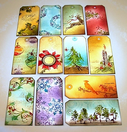 fabulous tutorial on how to use Tim Holtz distress stains, now I want to go out and buy them all!