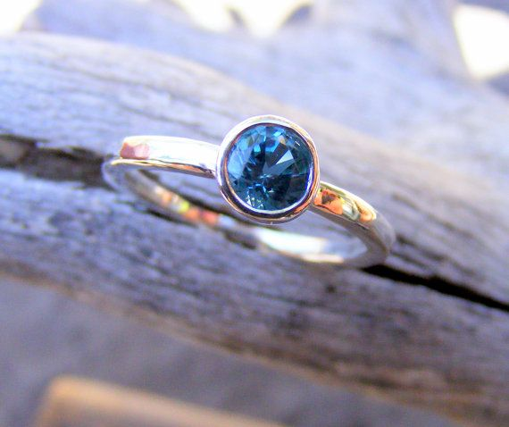 London Blue Topaz Ring...This is all I want.