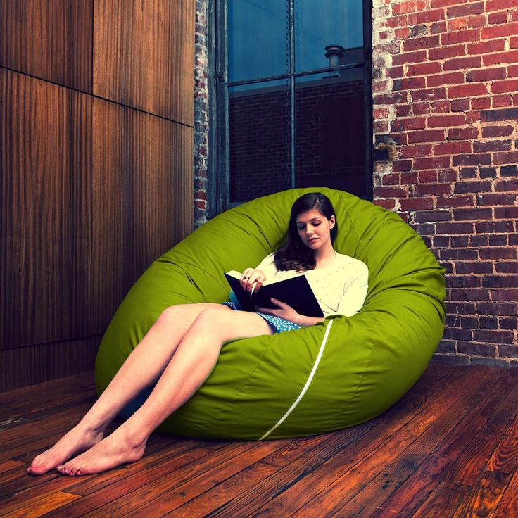 Giant beanbag chairs... I want one of those for the breakroom, too.