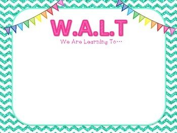 WALT WILF TIB WAGOLL learning objective poster... by year2tastic | Teachers Pay Teachers