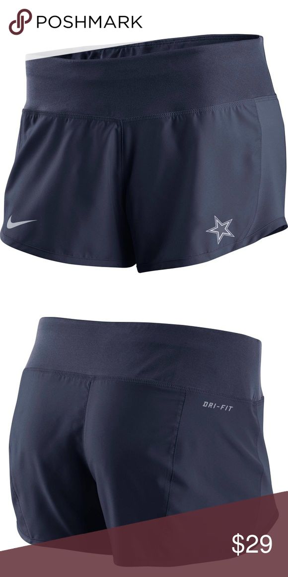 Dallas Cowboys Nike Gear Up Crew Short dri-fit Made of Nike Dri-fit technology to keep you cool. Gear up crew short feature inner lining that fit like underwear with a loose fit short over. Inner drawstring. Current Retail for $42. Nike logo on one side, Dallas Cowboy logo on other side. Never worn, new with tags. Nike Shorts