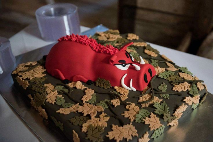 Arkansas razorback grooms cake. Camouflage grooms cake