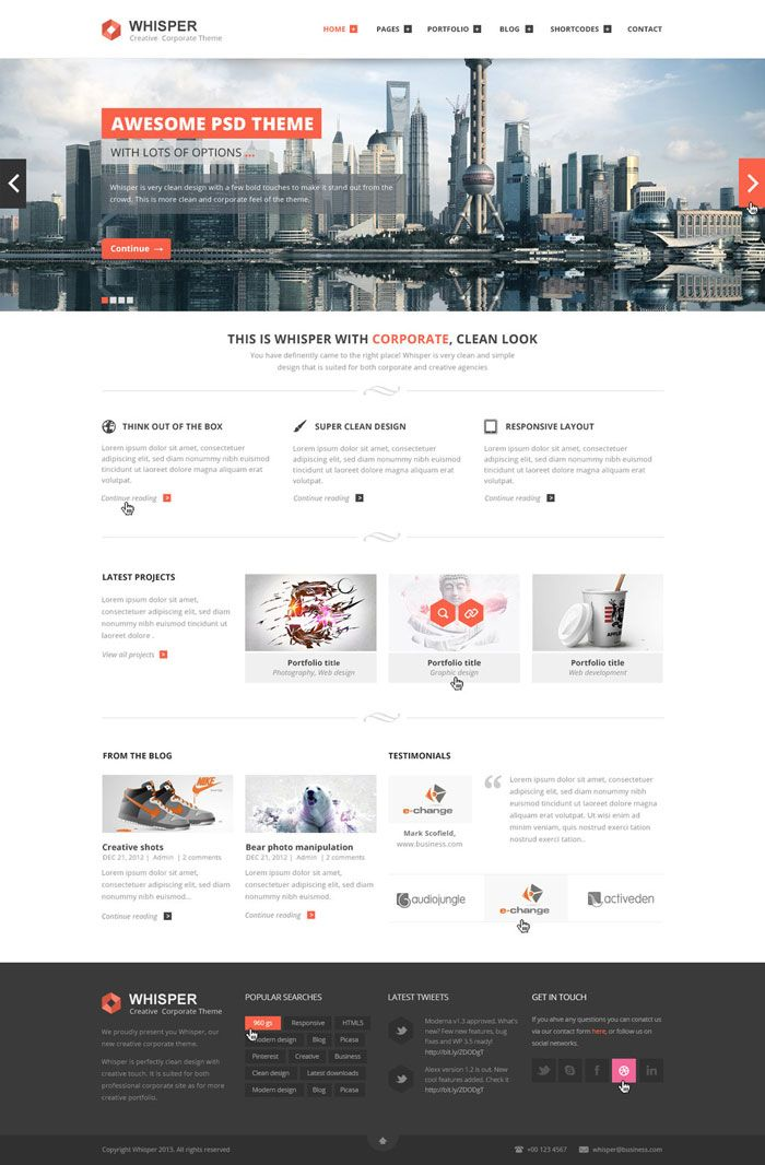 Modern Website Layout Designs For Inspiration