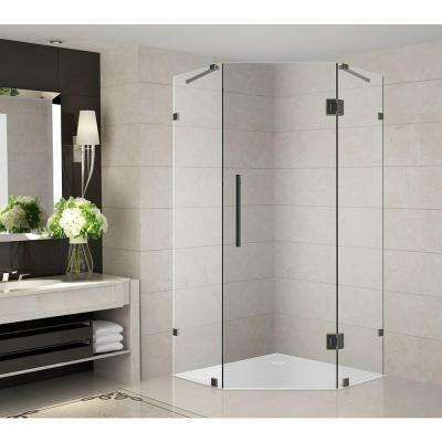 Neoscape 38 in. x 38 in. x 72 in. Completely Frameless Neo-Angle Shower Enclosure in Oil Rubbed Bronze