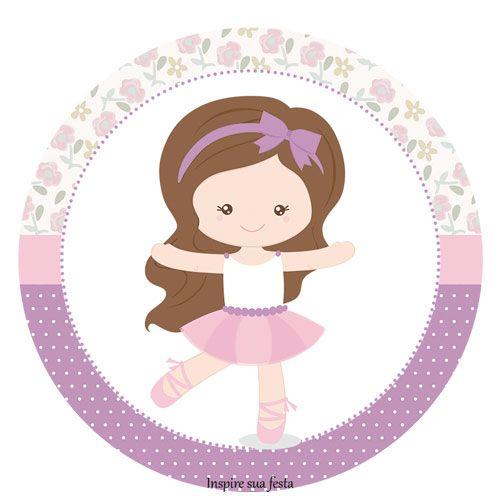 Bailarina Lilás – Kit festa grátis para imprimir – Inspire sua Festa ®