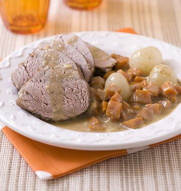Filet mignon de porc au cidre et aux pommes - Recettes de cuisine Ôdélices