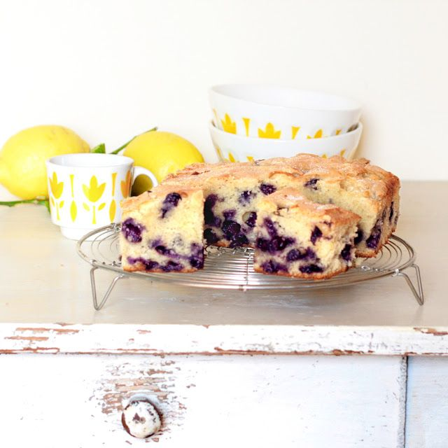 Blueberry cake - Gâteau aux myrtilles