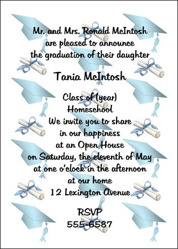 Best Homeschool Graduation Announcements Images On