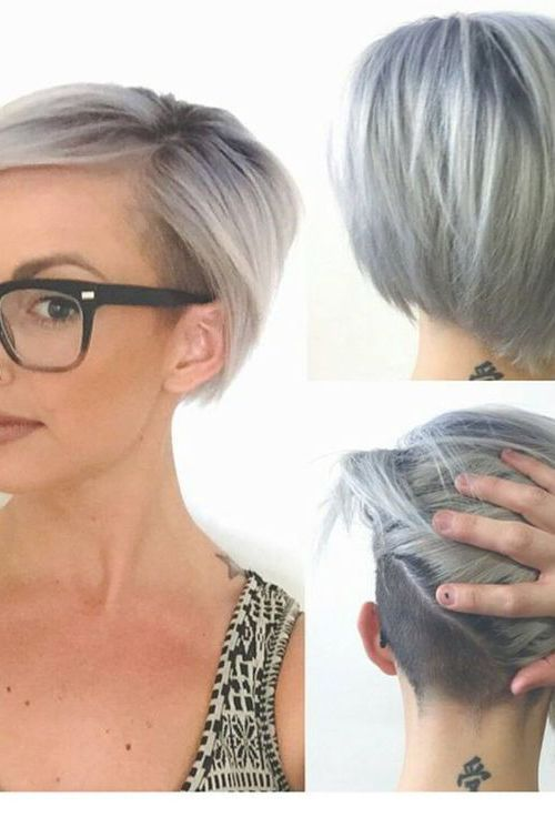21 Adorable Asymmetrical Bob Hairstyles for 2016: #20. Short asymmetrical bob with shaved neckline