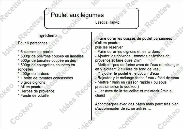 Recettes Legumes Cookeo Affordable Rti De Dinde Au Paprika Et Aux