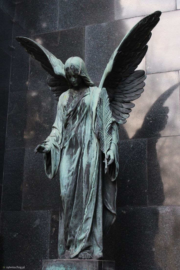 One of the most epic monument i ever saw - Angel at Powązki Cemetary, Warsaw