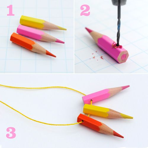 This would be great for road trips-- pencil crayons right around your neck.