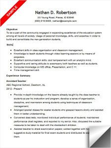 teaching assistant resume example sample resumes