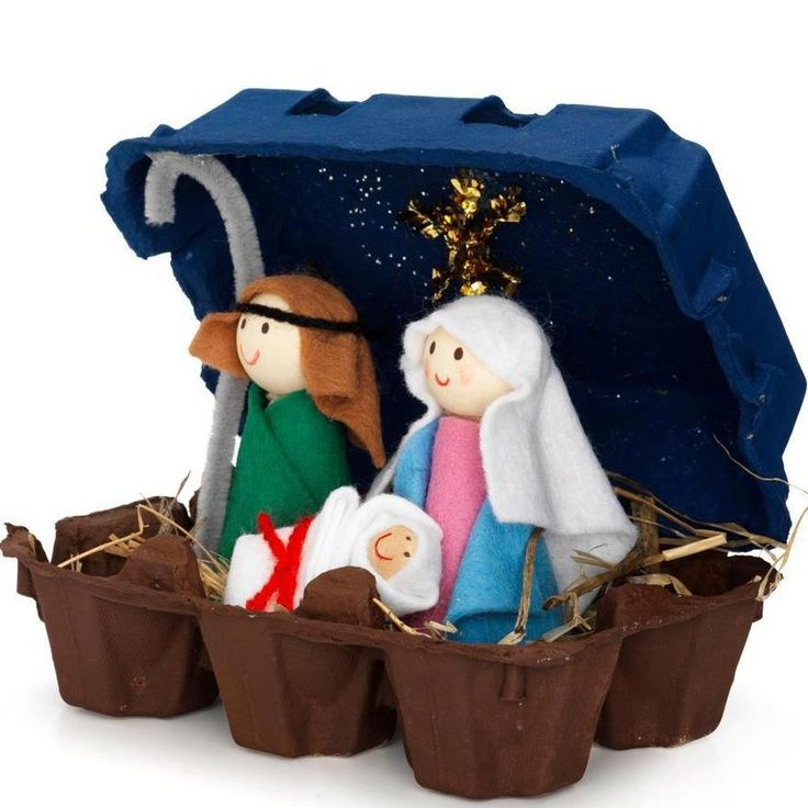 46 best diy nativity images on pinterest christmas ideas kids cute diy nativity idea solutioingenieria Image collections
