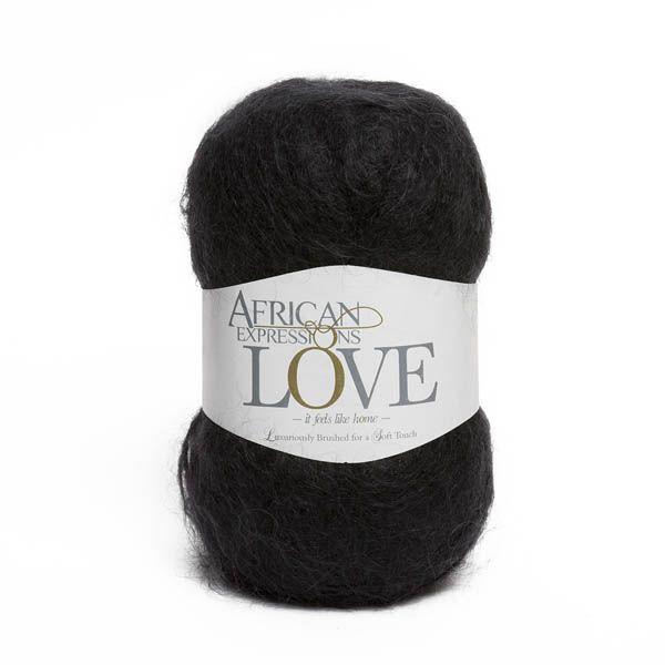 Colour Love Black, Chunky weight,  African expressions 3081, knitting yarn, knitting wool, crochet yarn, kid mohair yarn, merino wool, natural fibres yarn.