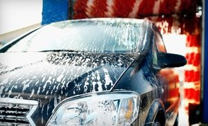 Groupon - Exterior Car Wash with Hand Dry and Interior Fragrance or Deluxe Wash Package at Super-Suds (Up to 53% Off)  in Multiple Locations. Groupon deal price: $5.00
