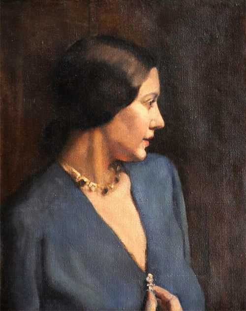 Portrait of the artist's wife (Laura Knight) by Harold Knight (English 1874–1961)