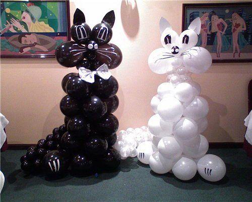 Картинки по запросу котик из воздушных шариков