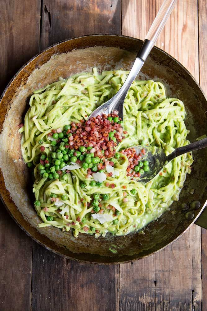 Fresh Pea Carbonara Recipe