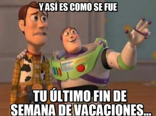 Woody & Buzz   Adios vacaciones !!!