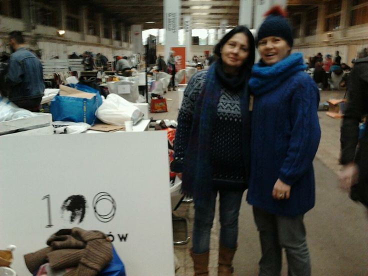 100palców team at Przetwory (Preserves - International Recycling Festival) in Warsaw (14 - 15.12.2013)