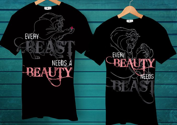Oogappel Design Studio applies different techniques to create awesome tee's. We experiment with heat transfers, screen printing, appliqué and hand painting, depending on the project. #personalised  #tshirt #design #print #heat #transfer #beauty #beast