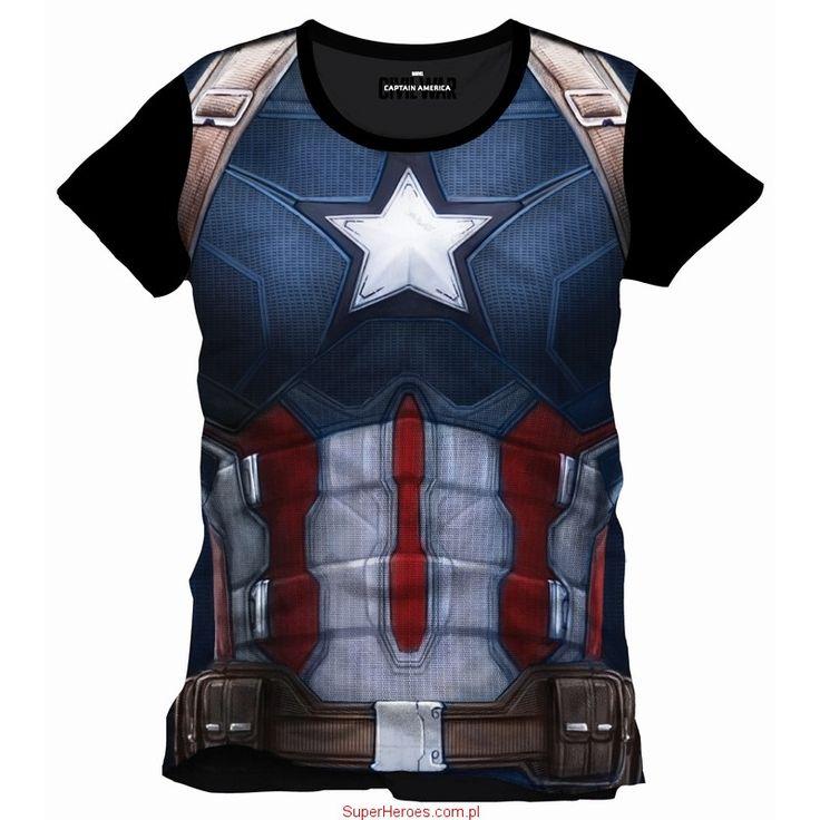 Koszulka Captain America - mundur Civil War